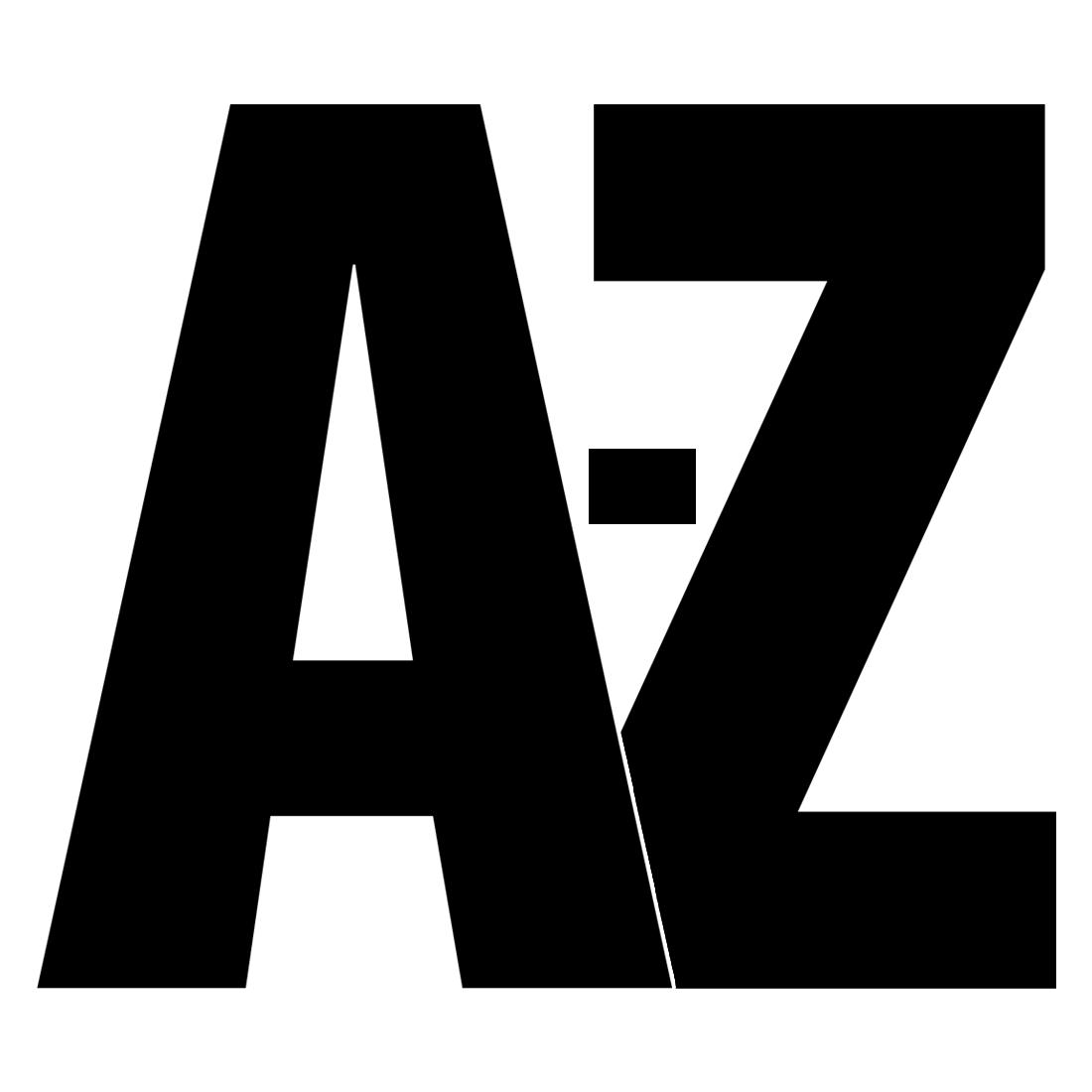 Single printable letters