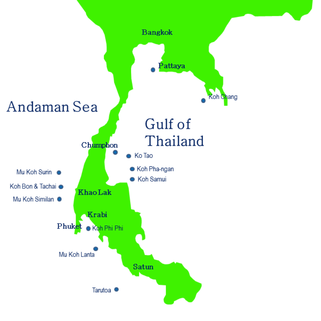 Weather Map of Thailand