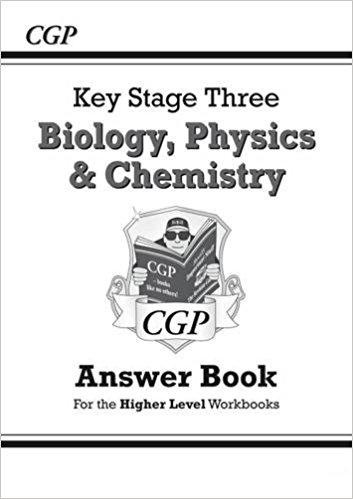 SHA32: KS3 Science Answers for all three Higher Level Workbooks