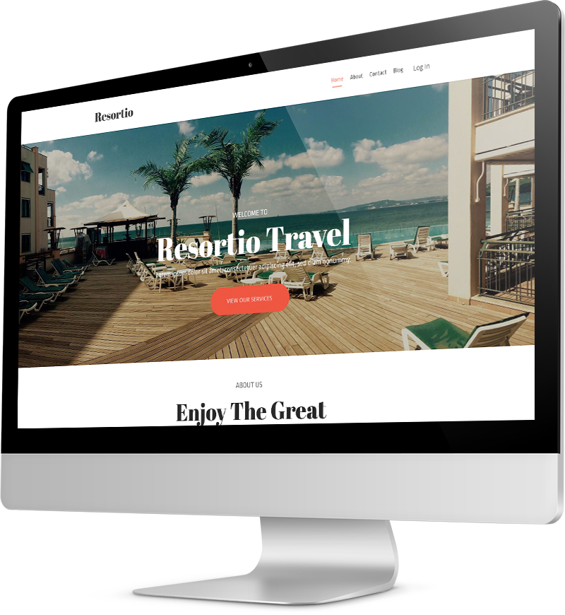 Travel agency template Desktop view of a Template