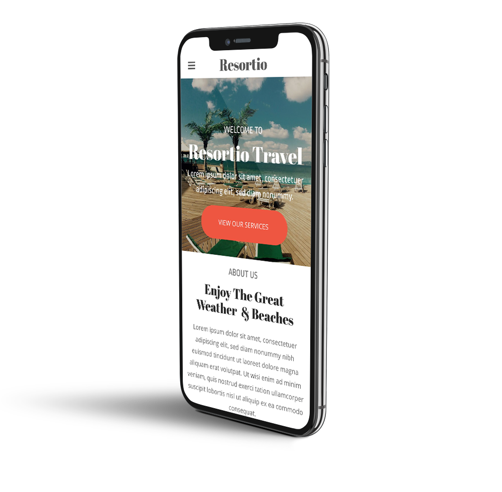 Travel agency mobile template