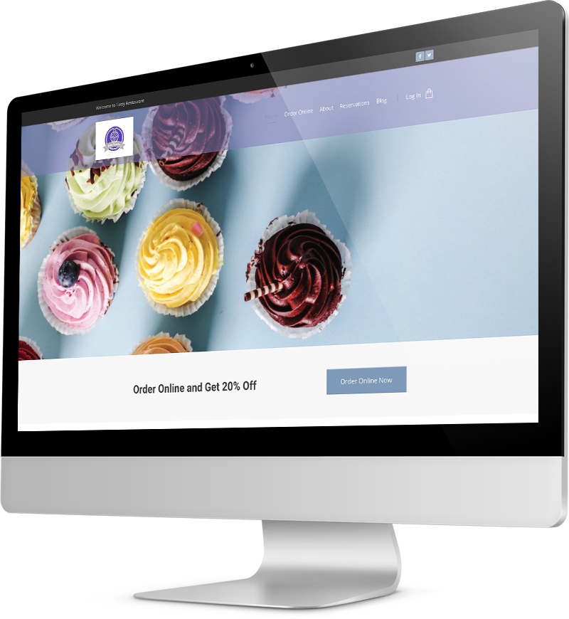 Cupcake bakery template Desktop view of a Template