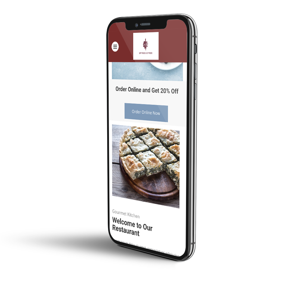 Greek restaurant mobile template