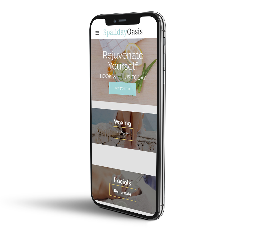 Spa website mobile template