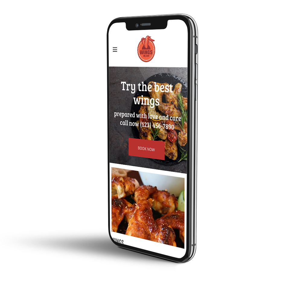 Wing restaurant mobile template