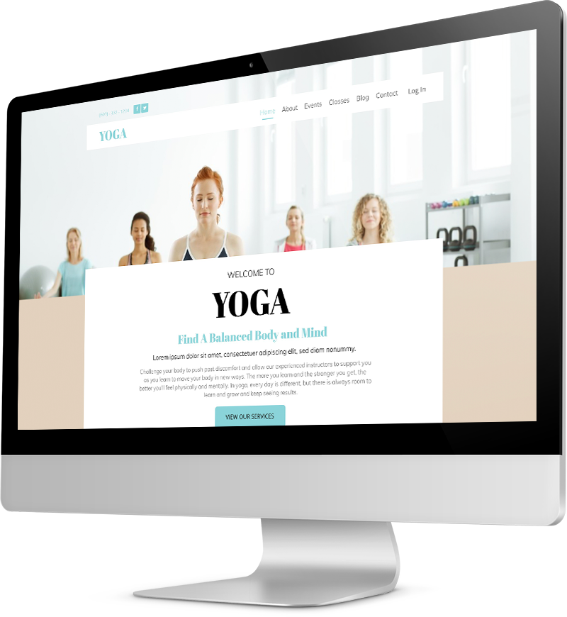 Yoga template Desktop view of a Template