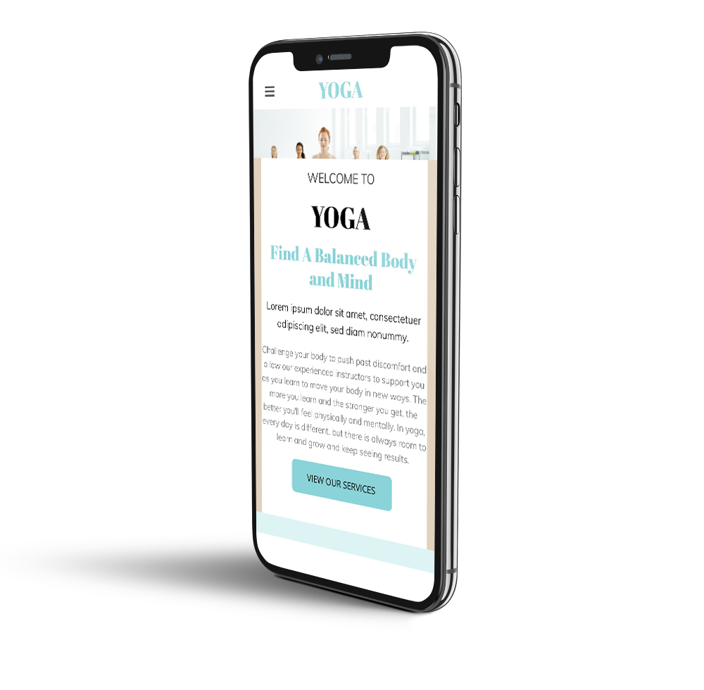 Yoga mobile template
