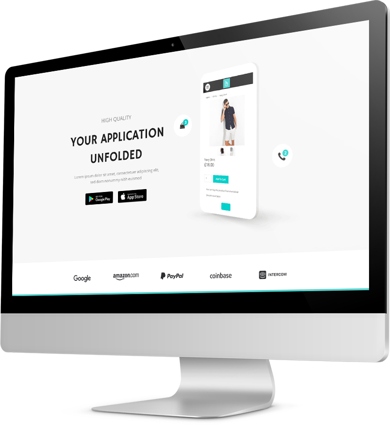 Digital marketing website template Desktop view of a Template