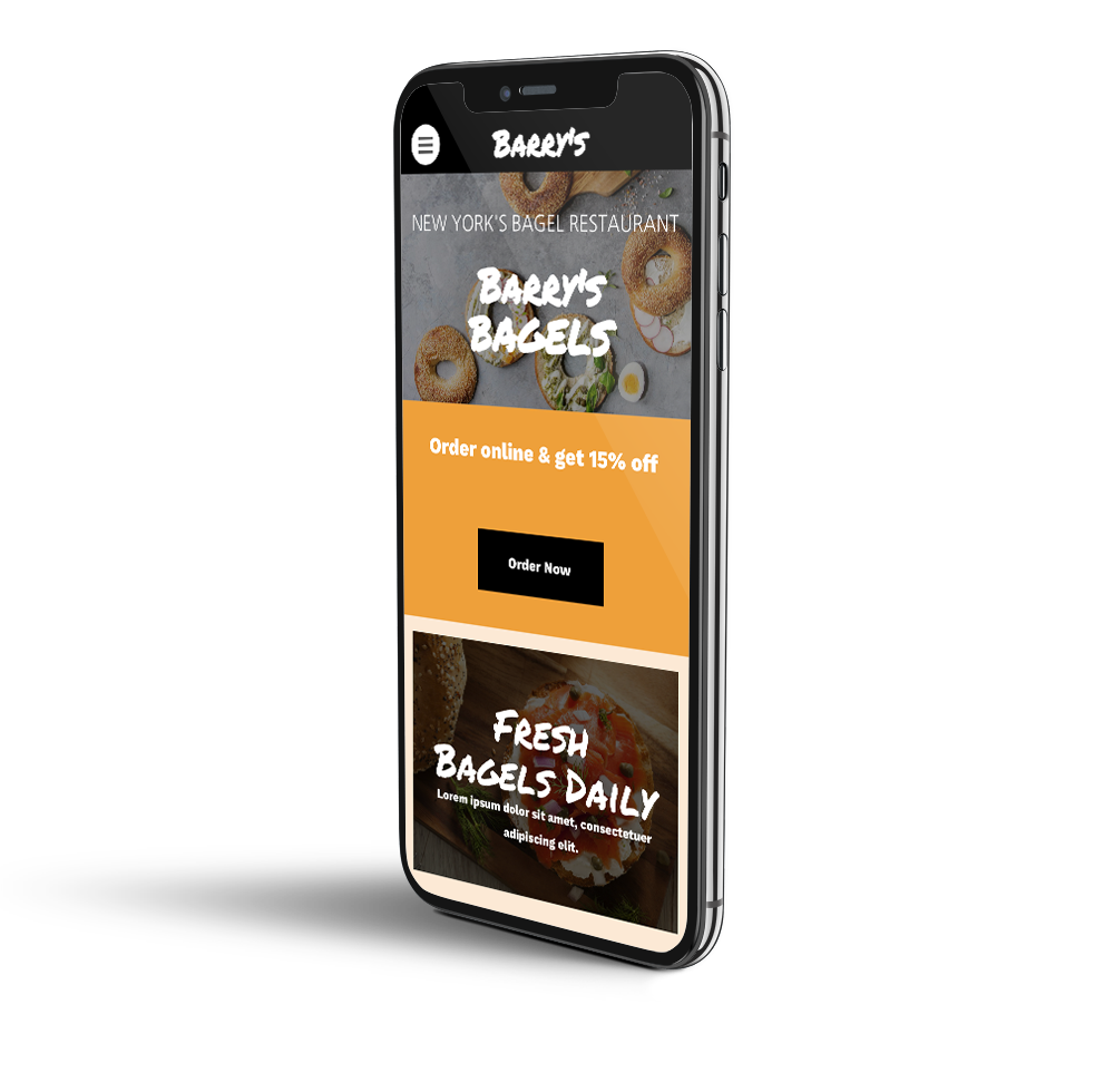 Bagel shop mobile template