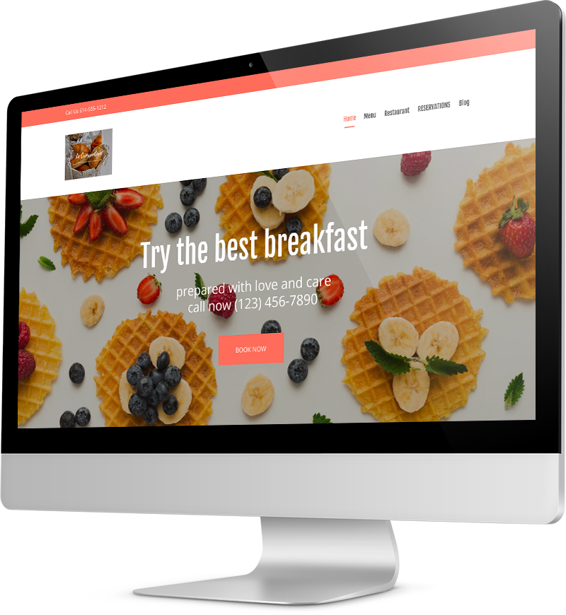 Breakfast website design