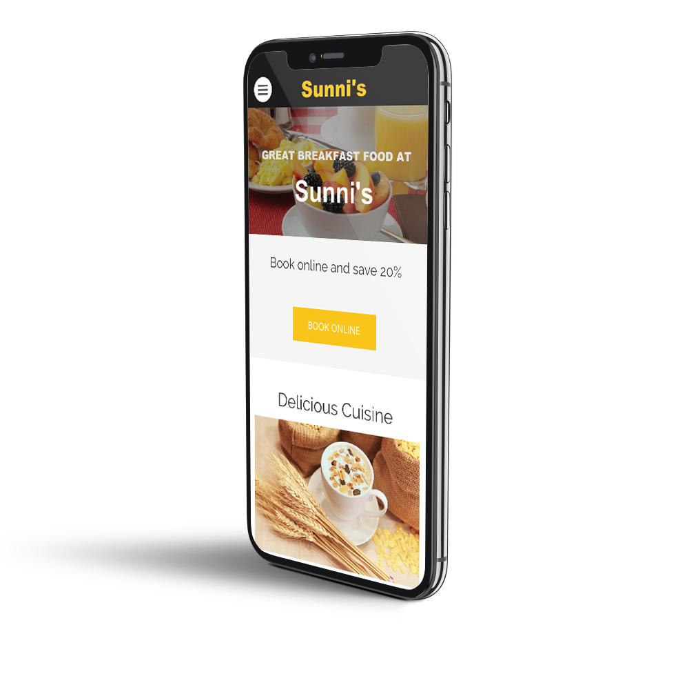 Breakfast mobile website