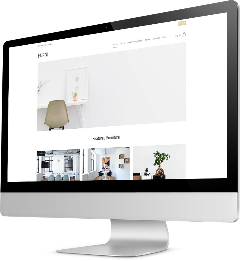 Interior Design website template Desktop view of a Template