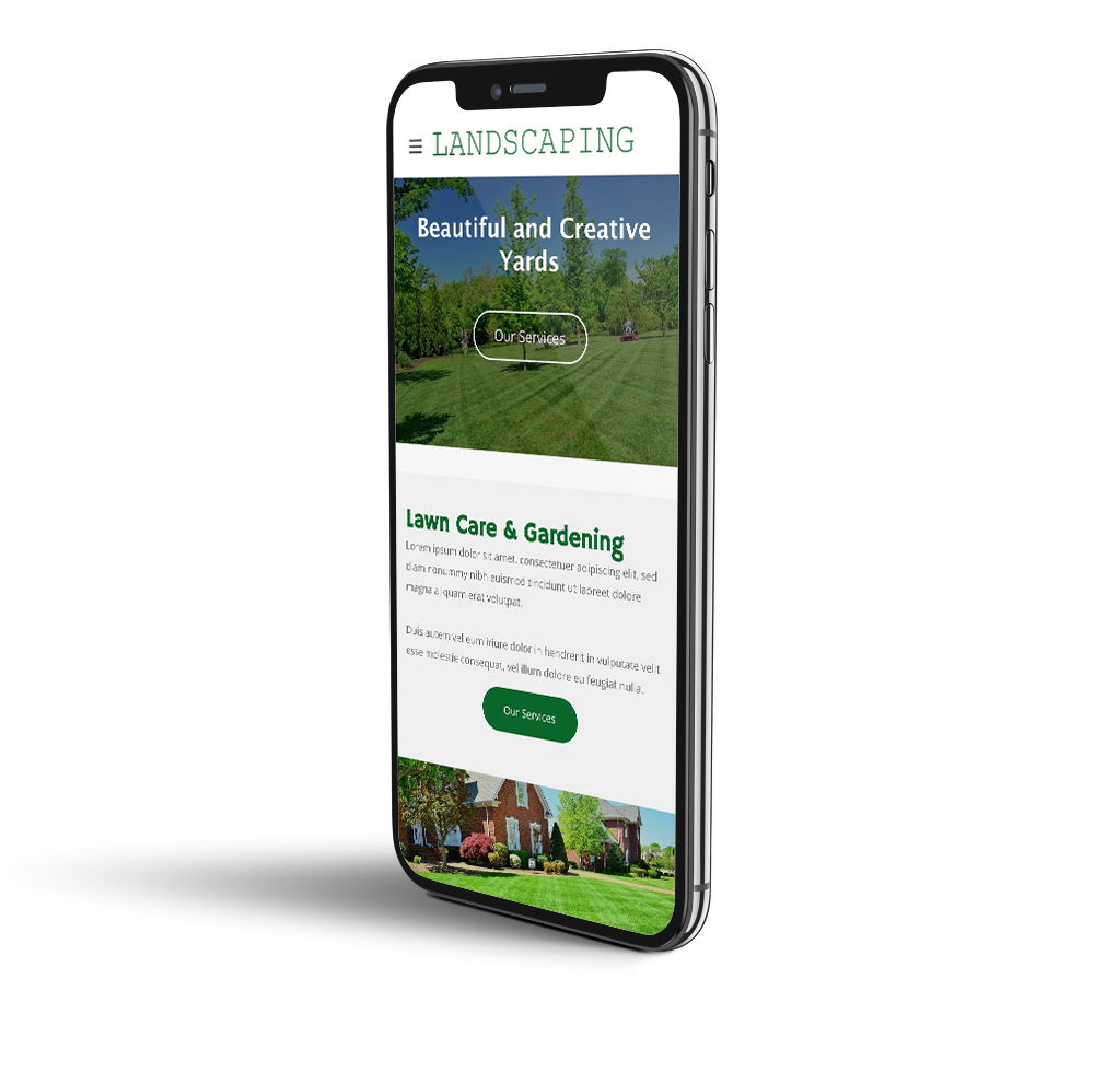 Landscaping website mobile template