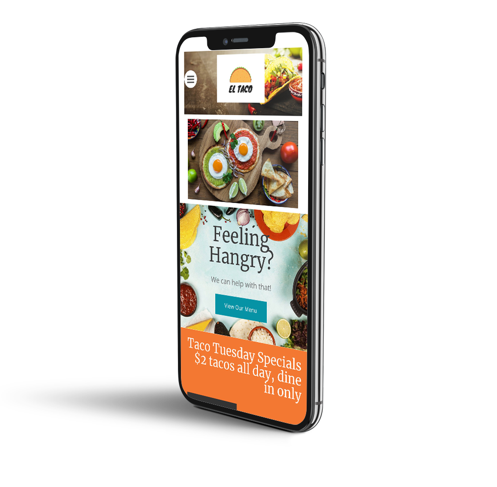 Taco restaurant mobile template