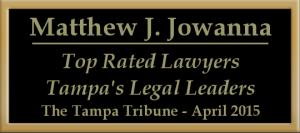 Matthew Jowanna top rated lawyers in Tampa Bay area