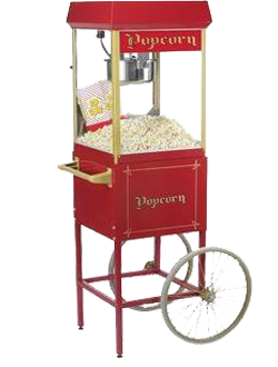 Old fashion popcorn machine