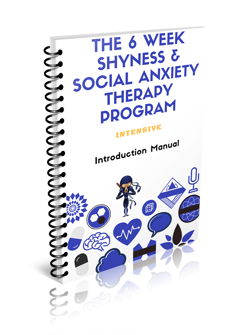 Image of the intrduction manual to the shyness social anxiety therapy program