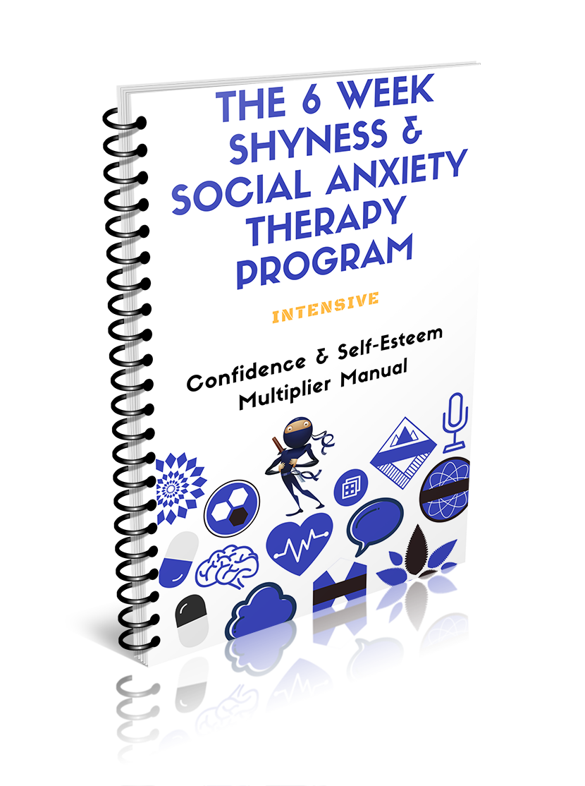 an image of the confidence and self-esteem manual detailing how to overcome social anxiety and shyness and build epic confidence