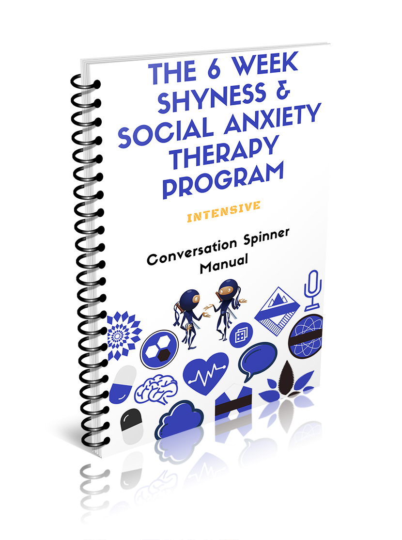 an image of the shyness social anxiety therapy program detailing how to overcome social anxiety and shyness and build epic conversation skills
