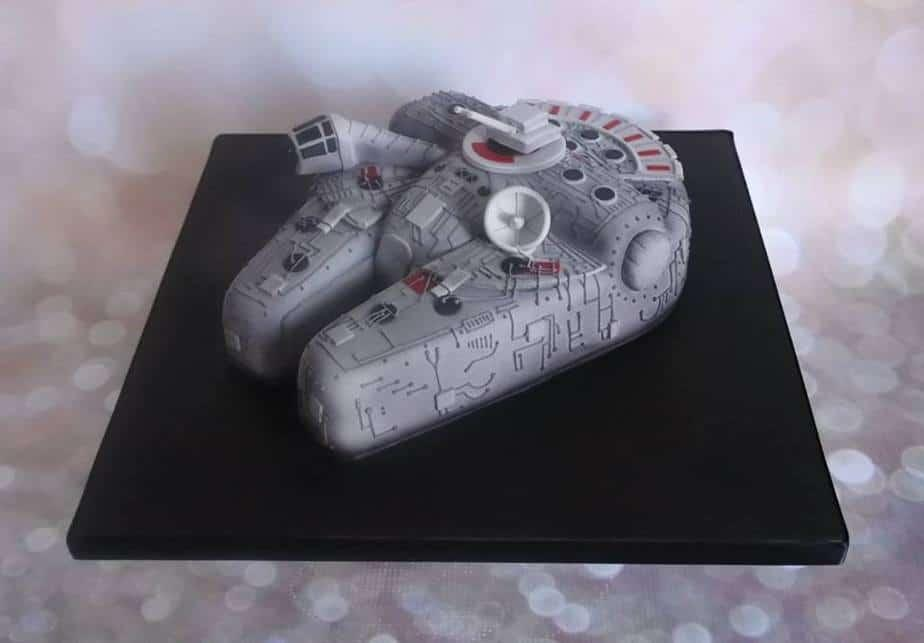 3D Sculpted Star Wars Millennium Falcon Birthday Cake