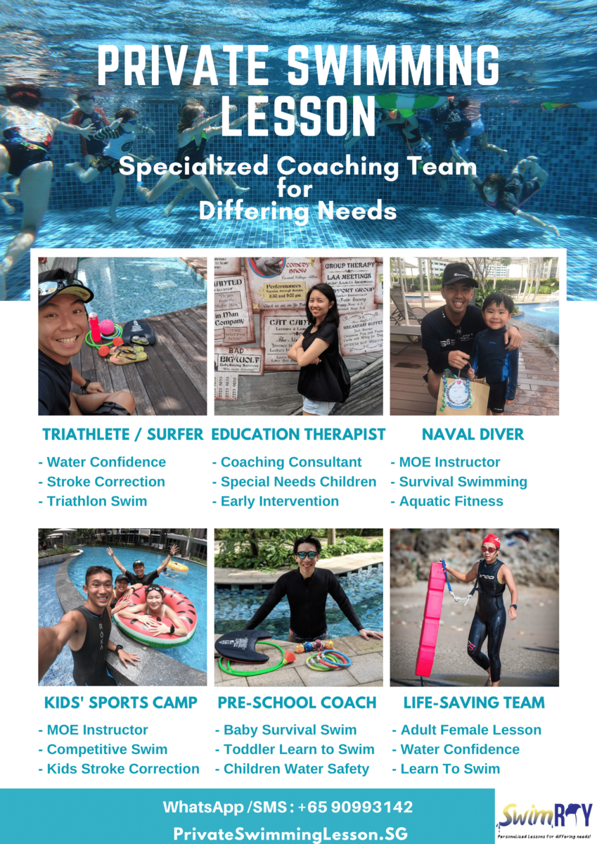 Private Swimming Instructors From SwimRay Swim Academy