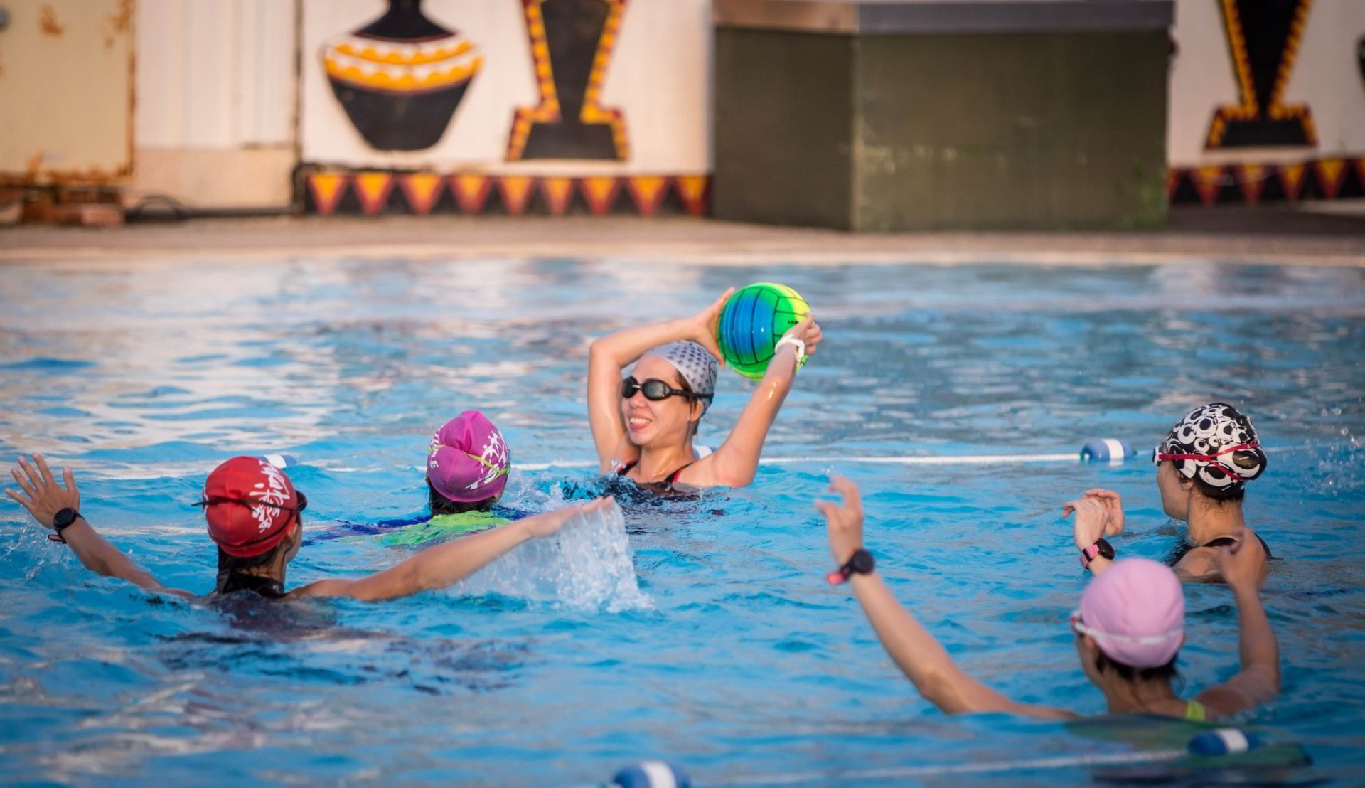 Aquatic Fitness Lesson ( Water Polo with Coach Jay )