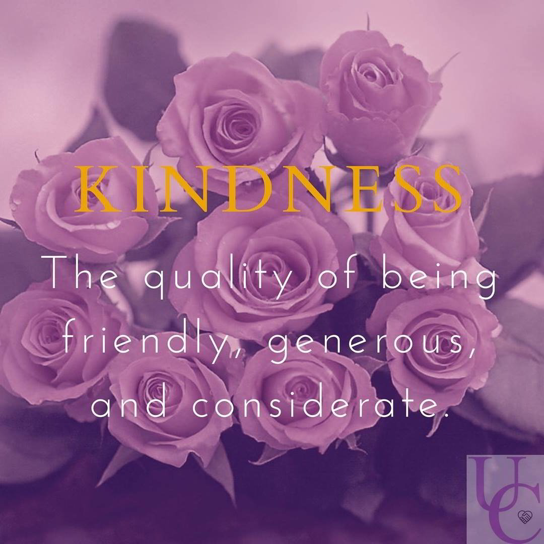 Kindness- the quality of being friendly, generous, and considerate.