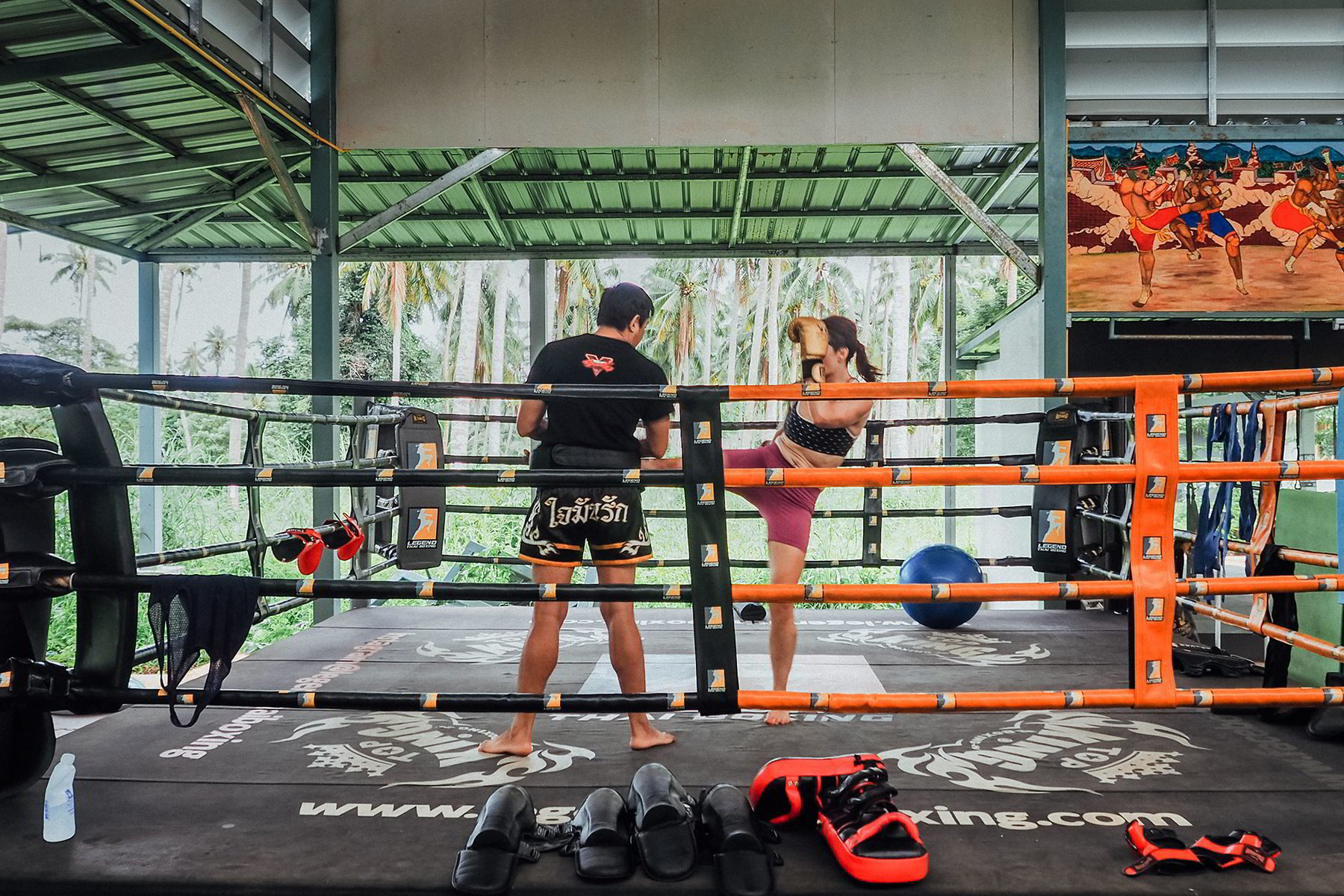 Be active on workation island with thai boxing, fitness, tennis and yoga