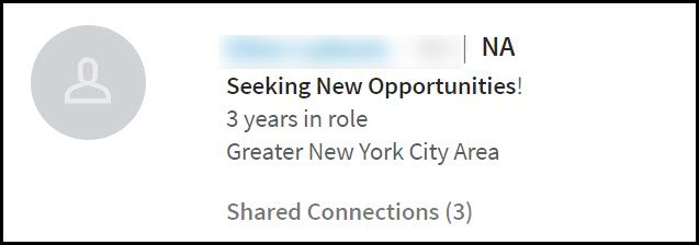 LinkedIn Headline Example - Seeking Opportunities