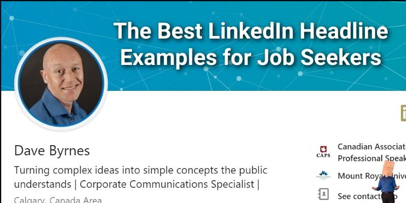 Linkedin Headline Examples For Job Seekers