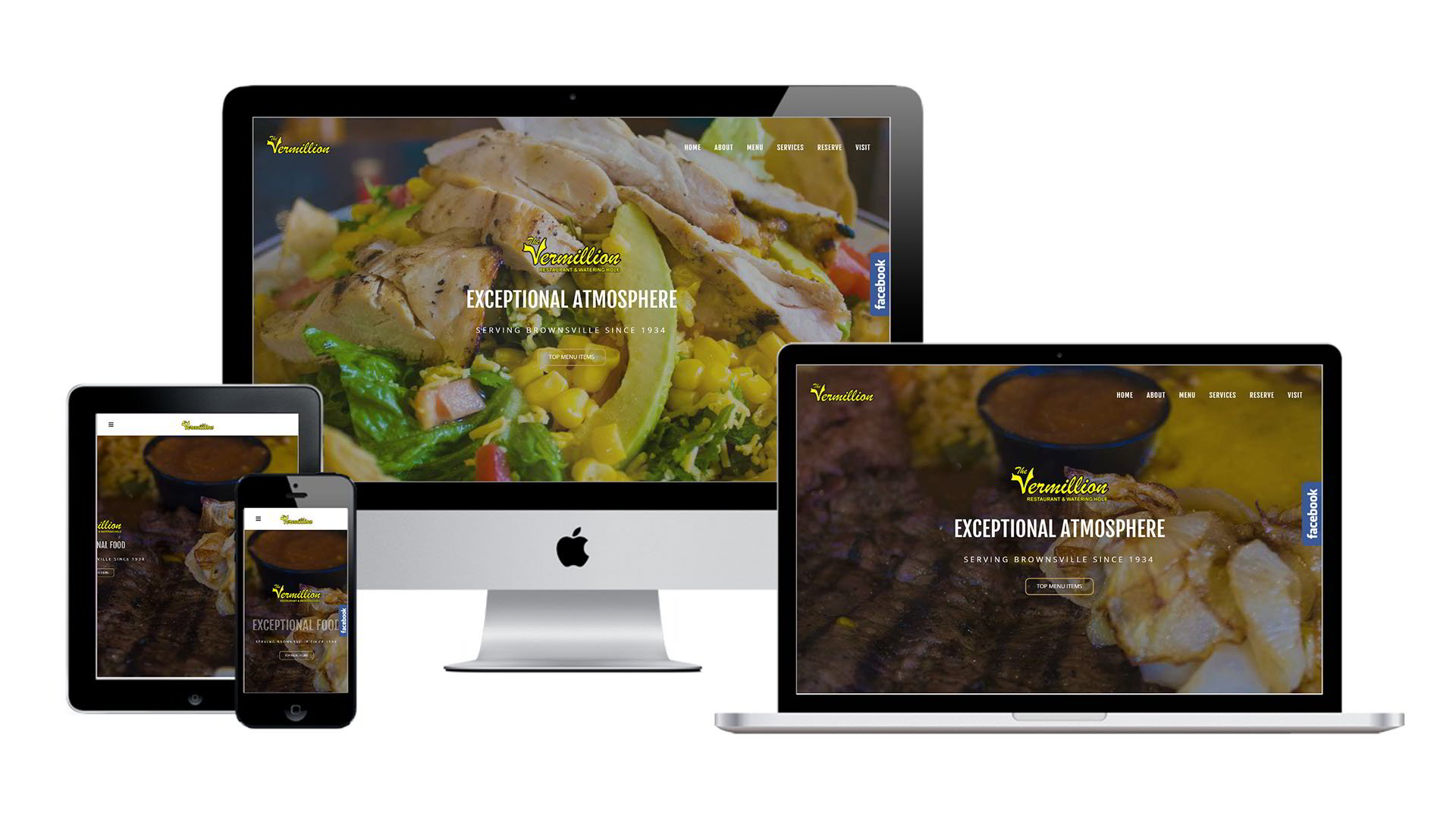 The Vermillion Restaurant Website