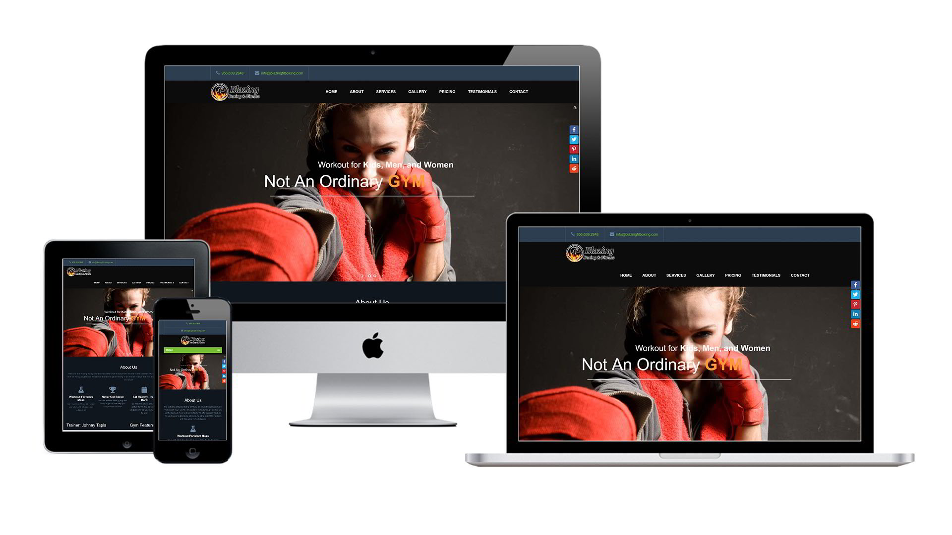 Blazing Boxing Gym Website