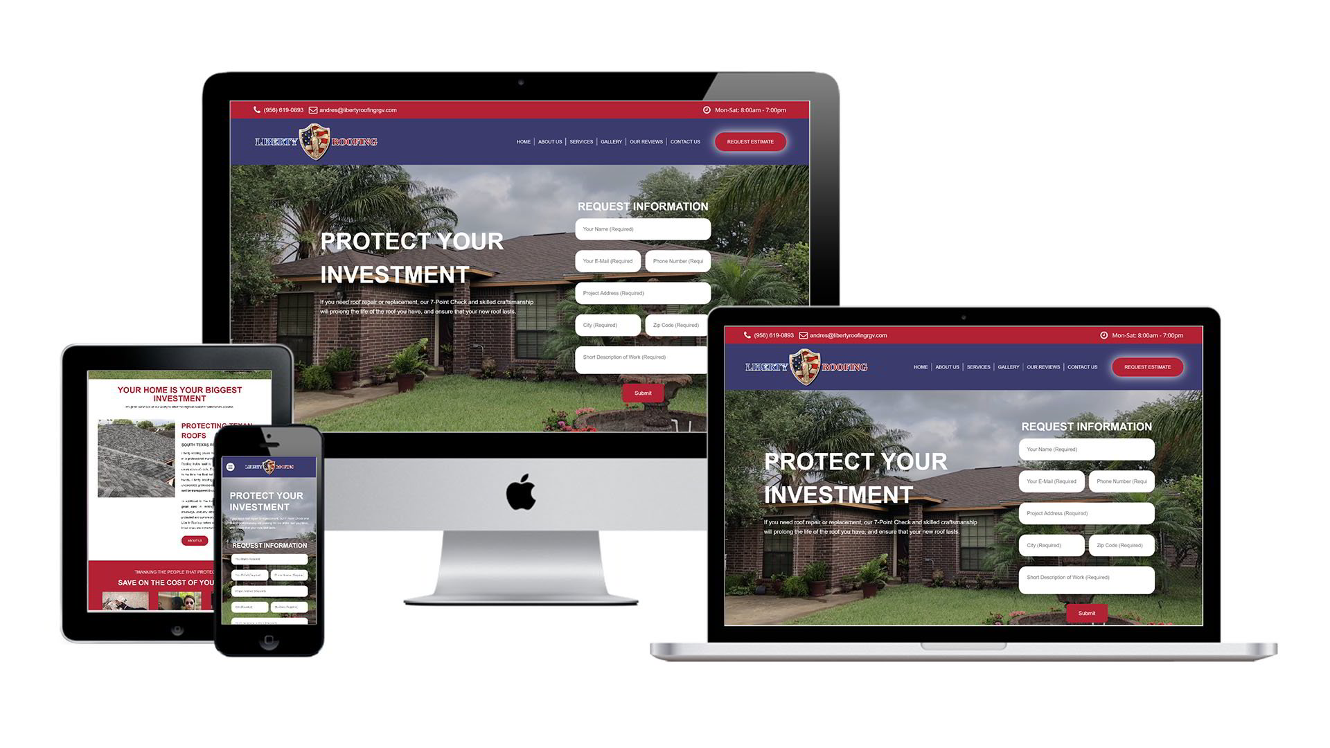 Liberty Roofing Website