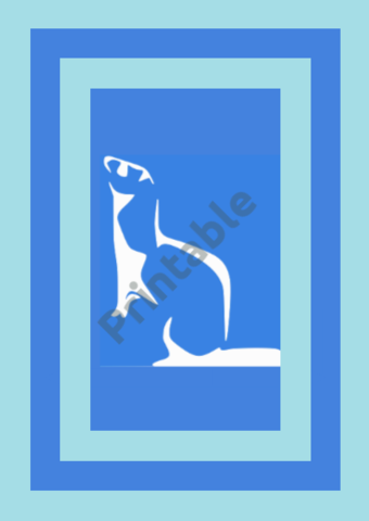Blue Ferret Printable Wall Art