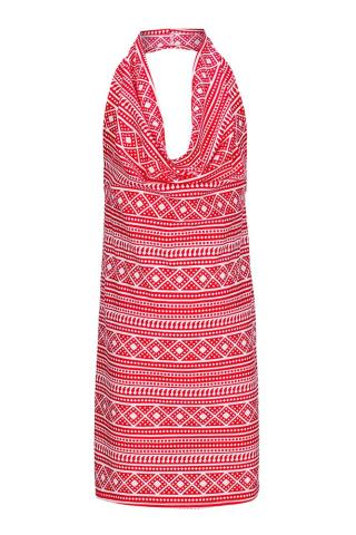Girls Red Mix cowl neck apron by Pinniesfromheaven