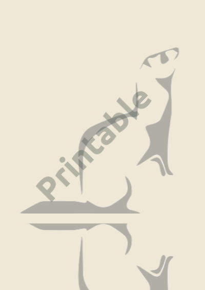 Ferret Reflection Printable Wall Art