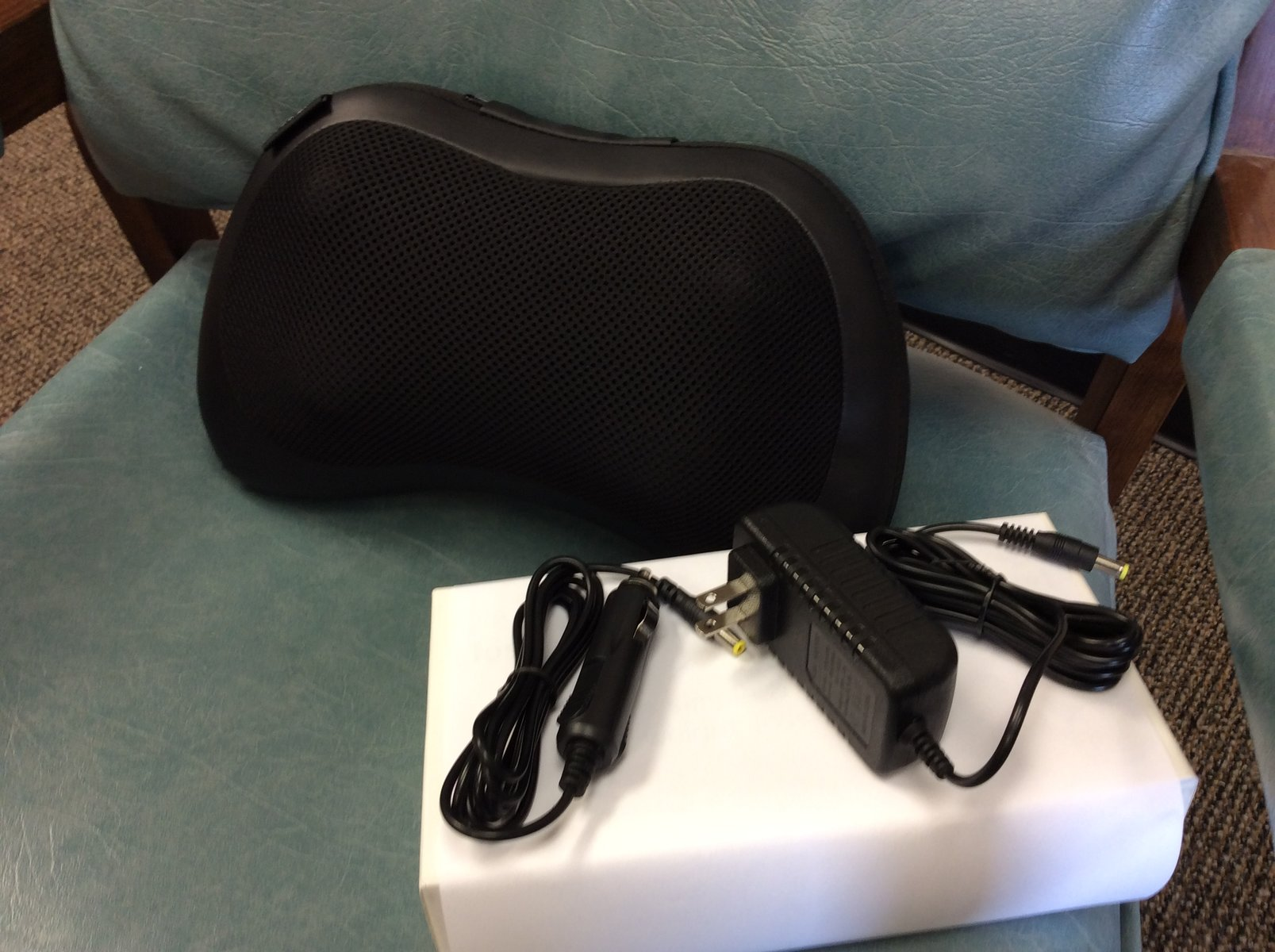 neck and lower back massager with power and car adapter