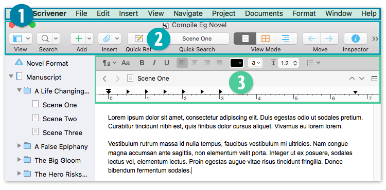 Scrivener > File > new Project