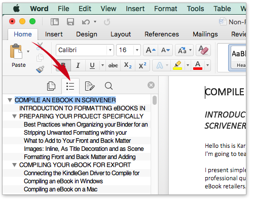 Scrivener Basics | Import Your Non-fiction Manuscript From Microsoft