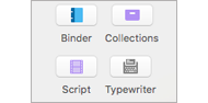 Scrivener menus and customizing toolbars