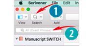 Scrivener Project Search Quick Search