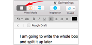 scrivener single document scrivenings