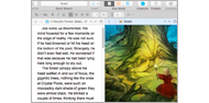 Scrivener split screen mode