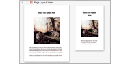 Scrivener page layout view
