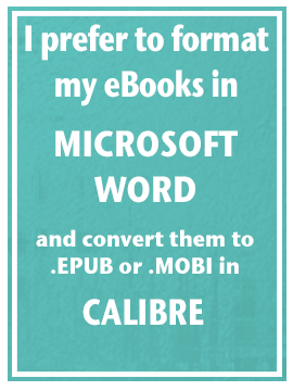 Format and eBook in Microsoft Word