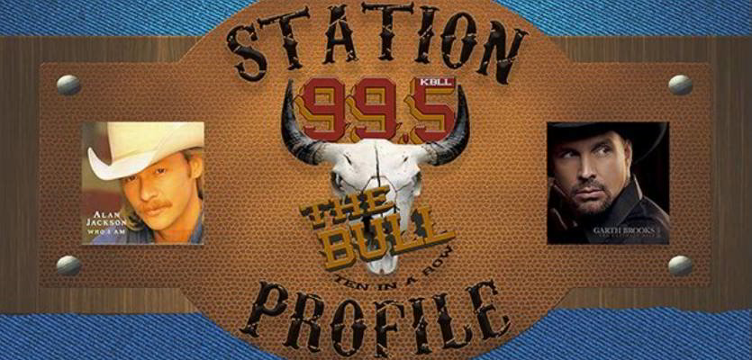 99.5 The Bull Radio Station Logo