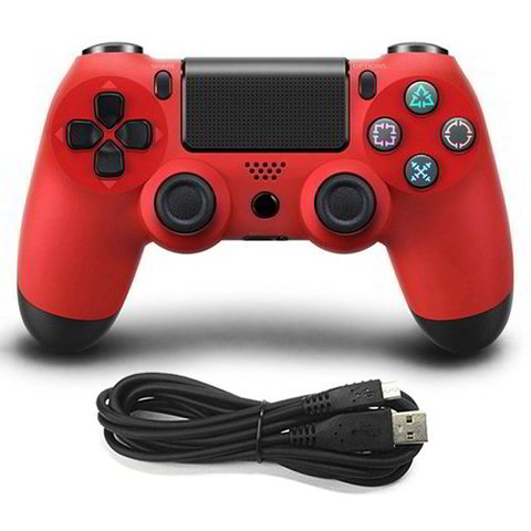 Wired Game Controller for Sony PS4(Red)