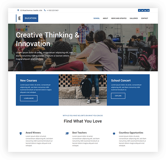 school website template