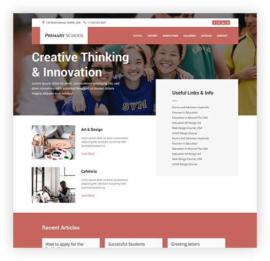 school website builder