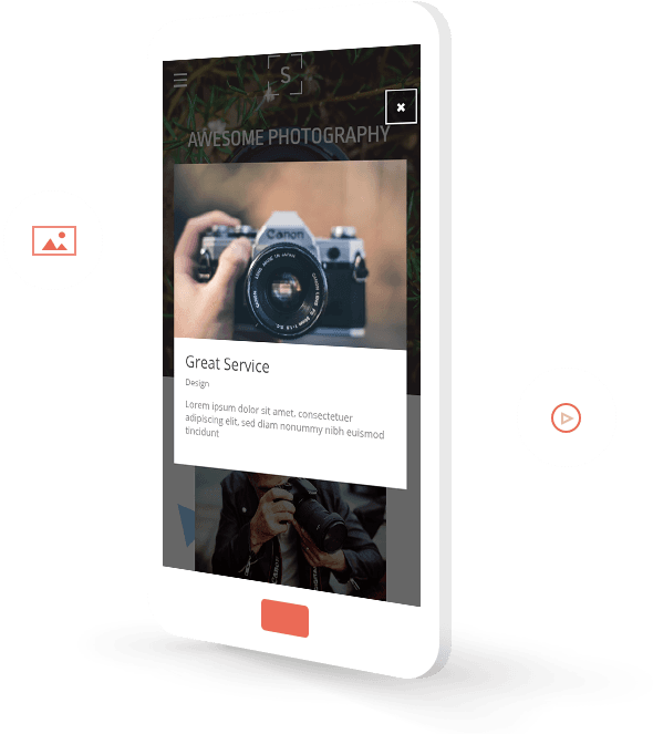Photography mobile template
